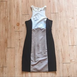Express Color block sheath dress